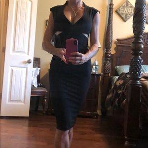 Nookie brand new black midi dress